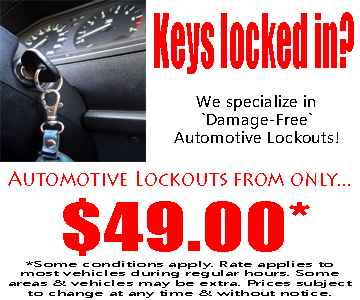 Auto lockouts from only $49.00!