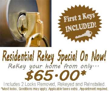 ReKey your home from only $65.00!