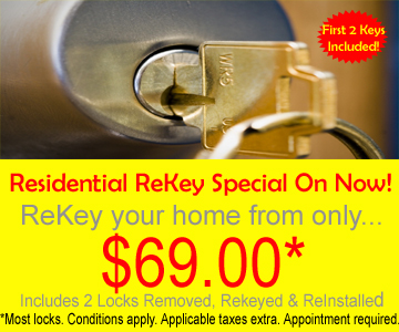 Change the locks on your home (rekey existing locks)from only $69.00!